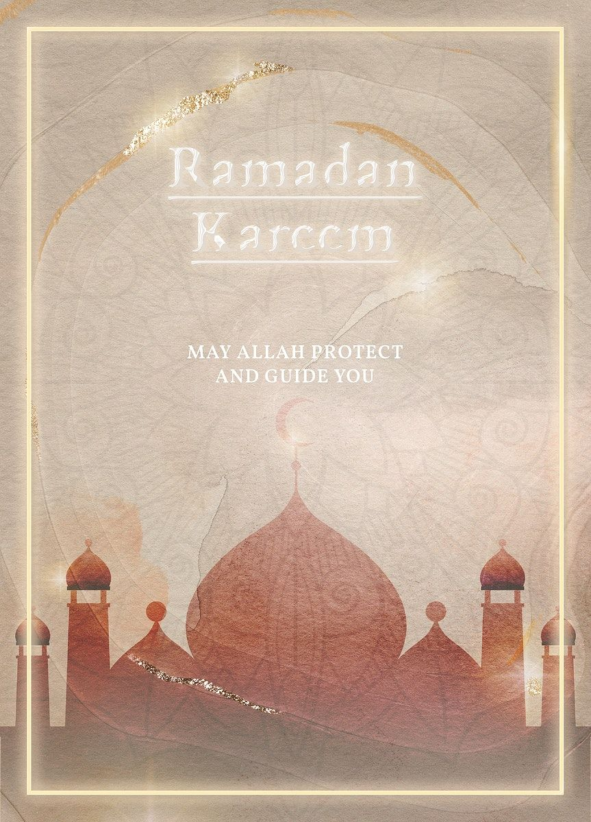 Download Premium Illustration Of Blessing For Ramadan Card Template 2262132 In 2020 Ramadan Ramadan Cards Eid Mubarak Greeting Cards