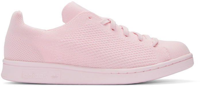e6b79e03c0a7 adidas Pink Primeknit Stan Smith Sneakers