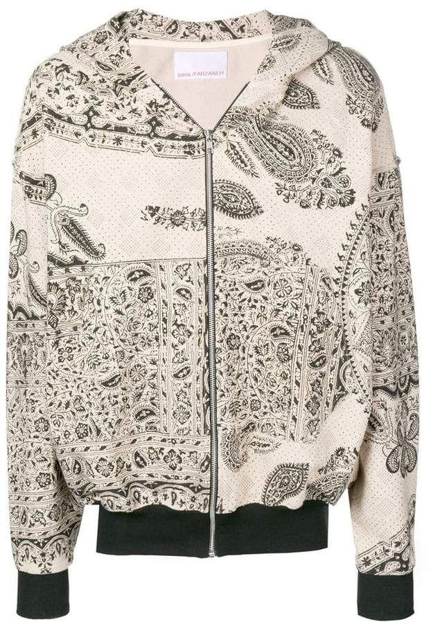 ab9ca07c389 Paria Farzaneh Paisley Print Hooded Jacket in 2019