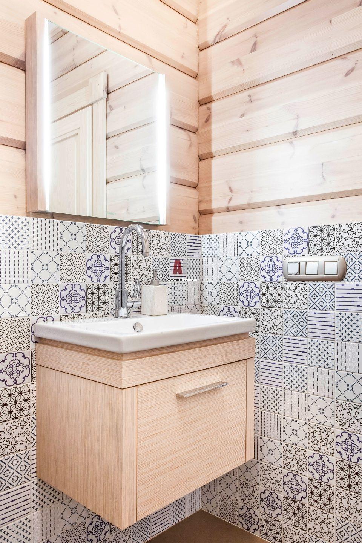 Фото интерьера санузла квартиры в стиле неоклассика # ...