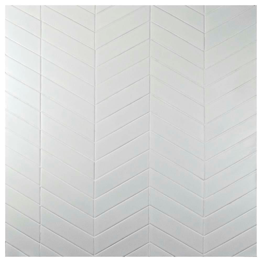 Merola Tile Metro Soho Chevron Matte White 1 3 4 In X 7 In Porcelain Floor And Wall Tile 1 Sq Ft Pack Fmtshcmw The Home Depot Flooring Wall Tiles Chevron Tile