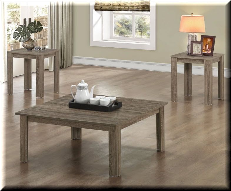3 piece coffee table set wood end tables square rustic