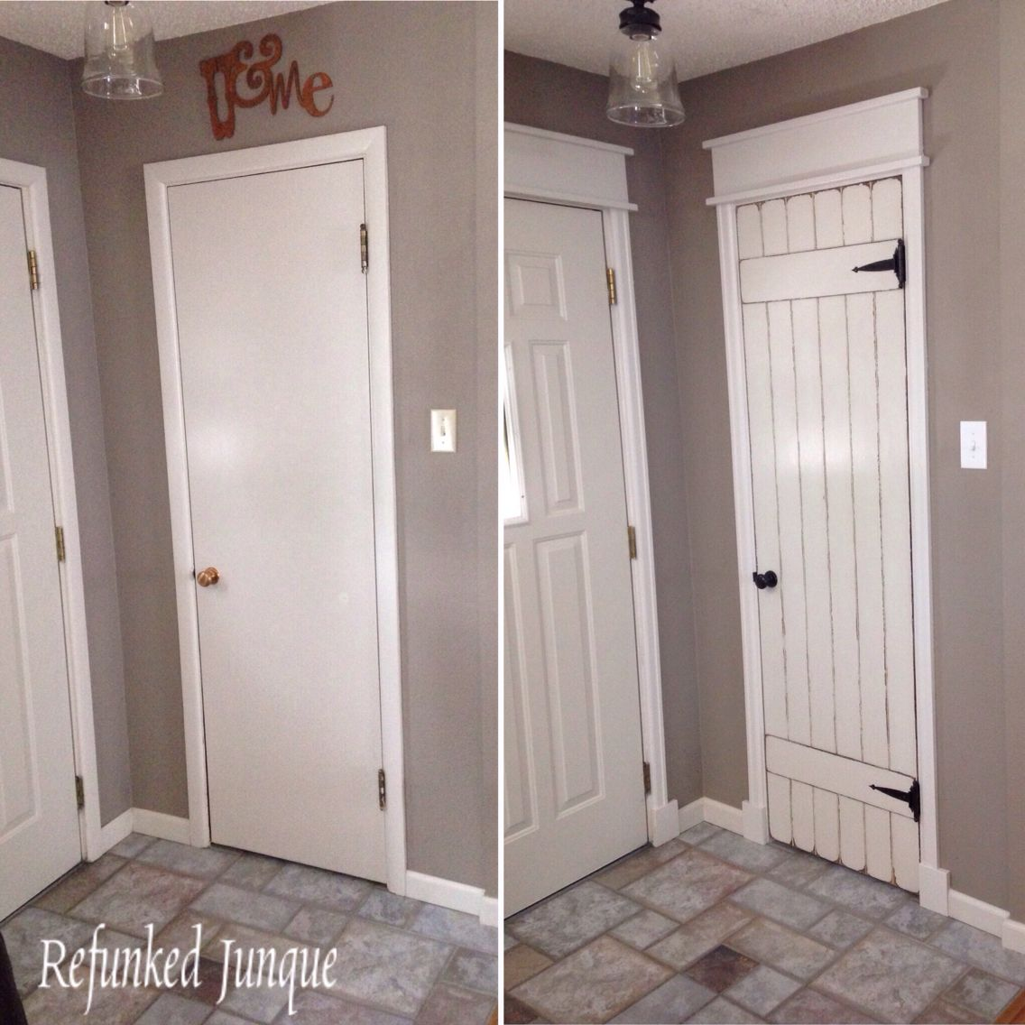 Hollow Core Door Makeover Pinteres