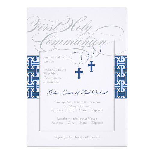 115b64ed753340b57704a2486c02e903 twin boys first communion invitation found the perfect invite for,First Communion Invitations For Boy Girl Twins