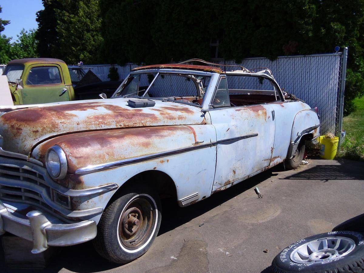 1949 Chrysler Windsor Convertible | Barn Finds,Junk Yard Cars etc ...