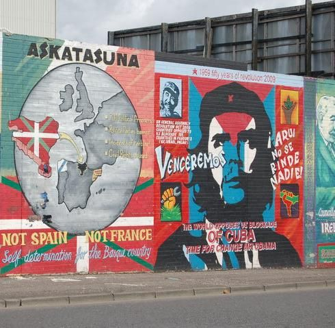 A Republican Mural In Belfast Showing Solidarity With The Basque
