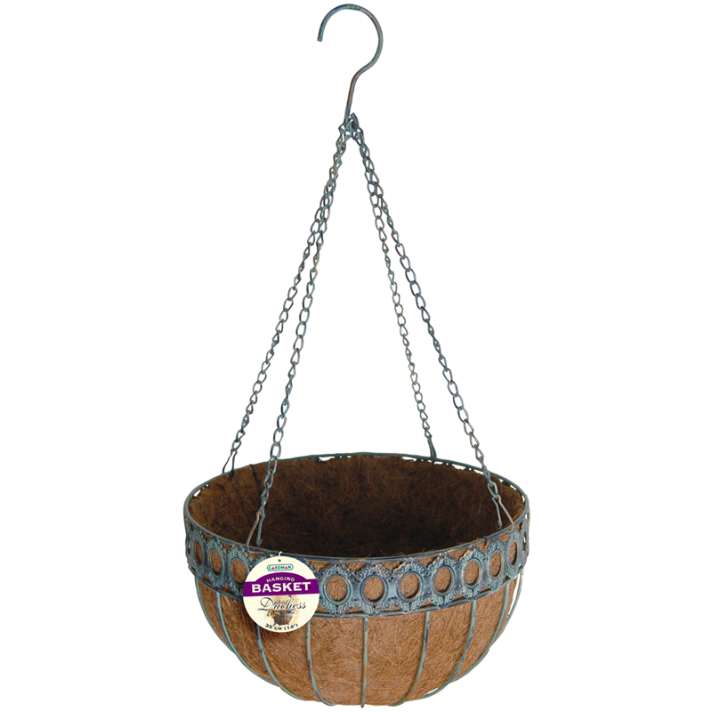 Find Gardman 35cm Ss Hanging Basket With Liner At Bunnings Warehouse Visit Your Local For The Widest Range Of Garden Products