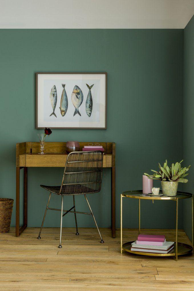 Decouvrez Les Tres Tendance Nouvelles Couleurs De Flamant By Tollens Decoration Salon Vert Deco Mur Salon Couleur Mur Salon