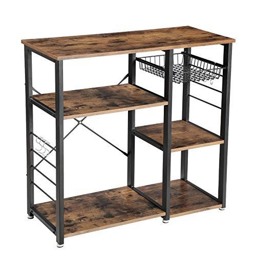 Vasagle Industrial Kitchen Baker S Rack Utility Storage Shelf