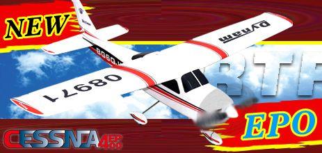 Dynam Cessna EP 400(Red) 4 Channel EPO Radio Control Airplane