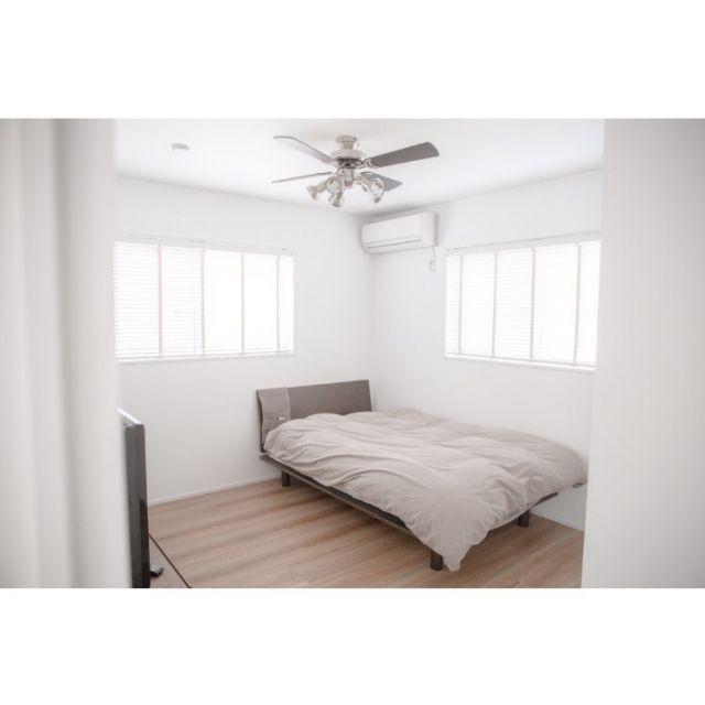 ベッド周り シンプルインテリア シンプルライフ 夫の部屋 子供部屋