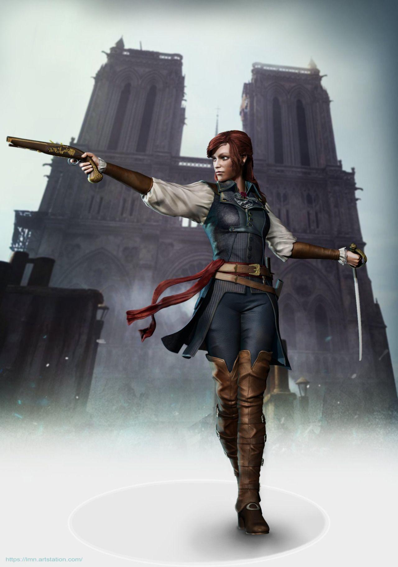 Elise De La Serre By Miaoning Lin Assassin S Creed Art