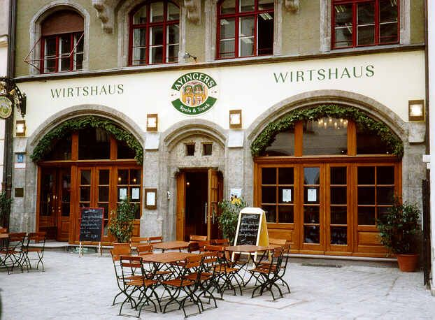 pub in German, Augustinerkeller   Restaurant facade, Beer ...