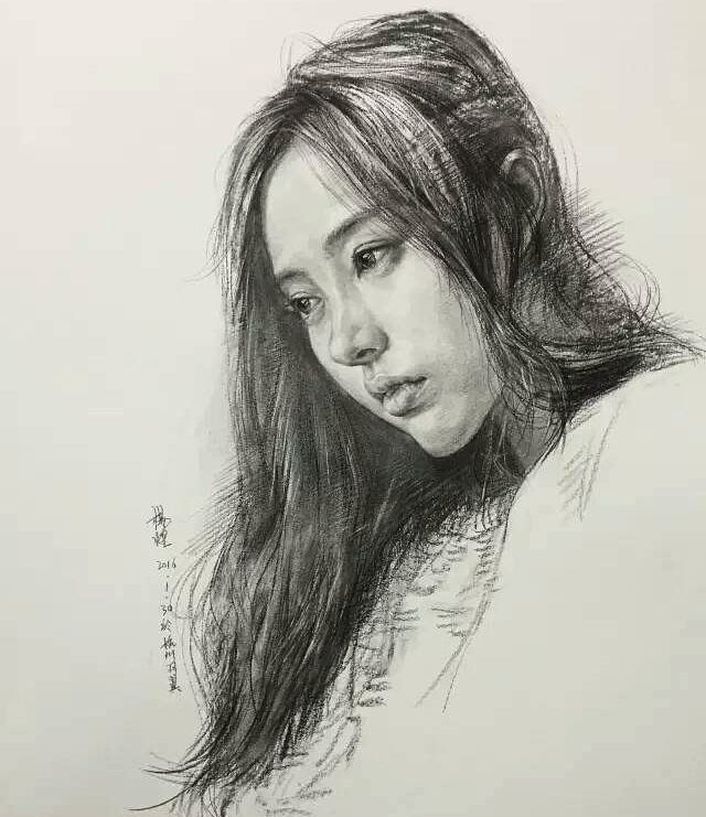 杭州画室杨煌 国美毕业生教师#스케치##素描##sketch##charcoal - k che wei matt
