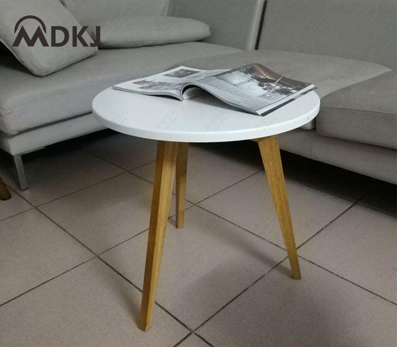Minimalist Modern Three Legs Round Side Table Mobile Small Coffee Table Dining Table Leisure Angle Coffee Kleiner Couchtisch Beistelltisch Rund Beistelltische