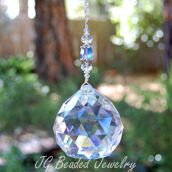 Large Crystal Prism Suncatcher Window Decoration Sun Etsy Crystal Suncatchers Crystal Prisms Large Crystals