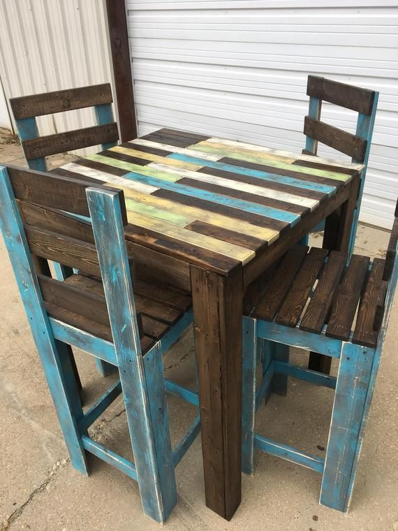Bistro Table With 4 Chairs In 2019 Products Diy