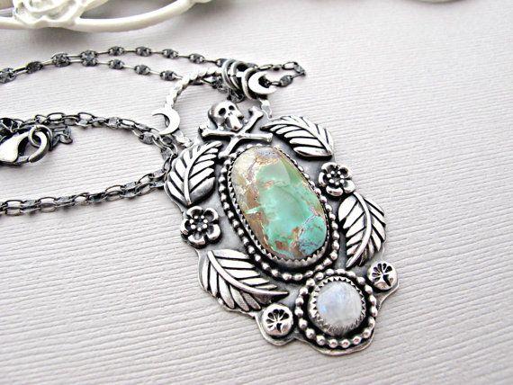 turquoise necklace turquoise pendant turquoise by vonmeyerjewelry