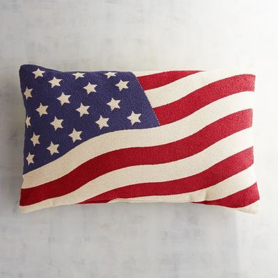 If you're looking for a way to incorporate a bit of patriotic spirit for the Fourth of July holiday, our lumbar pillow is a quick and easy fix. It features a deep-weave tapestry that is super-soft to the touch and will give you the support you need beyond the holiday weekend.
