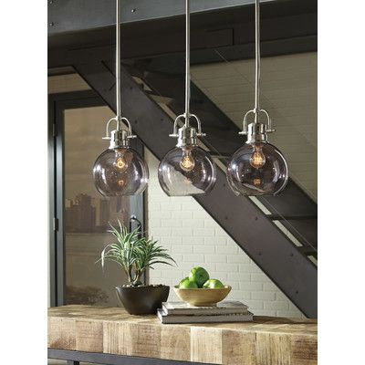 Burner 3 light kitchen island pendant island pendants and products brayden studio burner 3 light kitchen island pendant aloadofball Gallery
