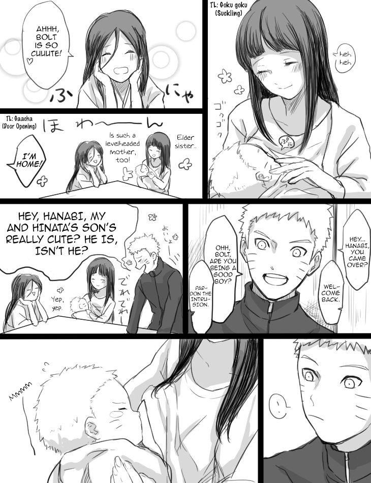 Hinata Feeding Baby Bolt Pg2 by bluedragonfan.deviantart.com on @DeviantArt