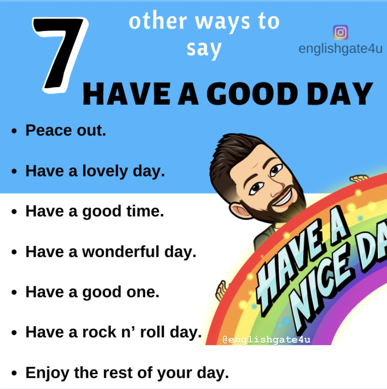 Other Ways To Say Have A Good Day English Vocabulary Words Learn English Words Learn English Vocabulary