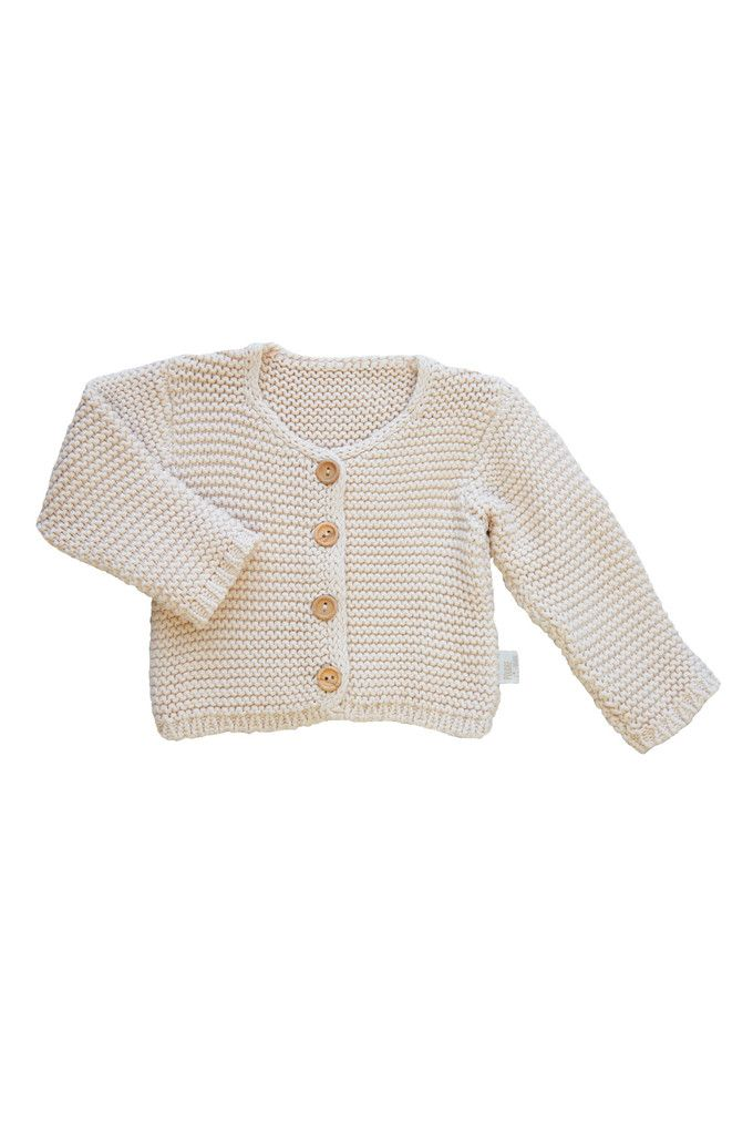 Knitted Baby Cardigan beige