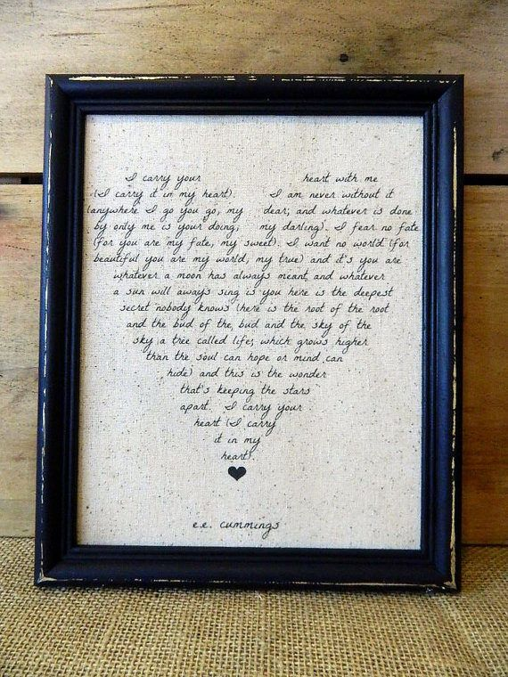 EE Cummings Love- Poem - Wedding Gift -Custom Love Poem - Nursery ...