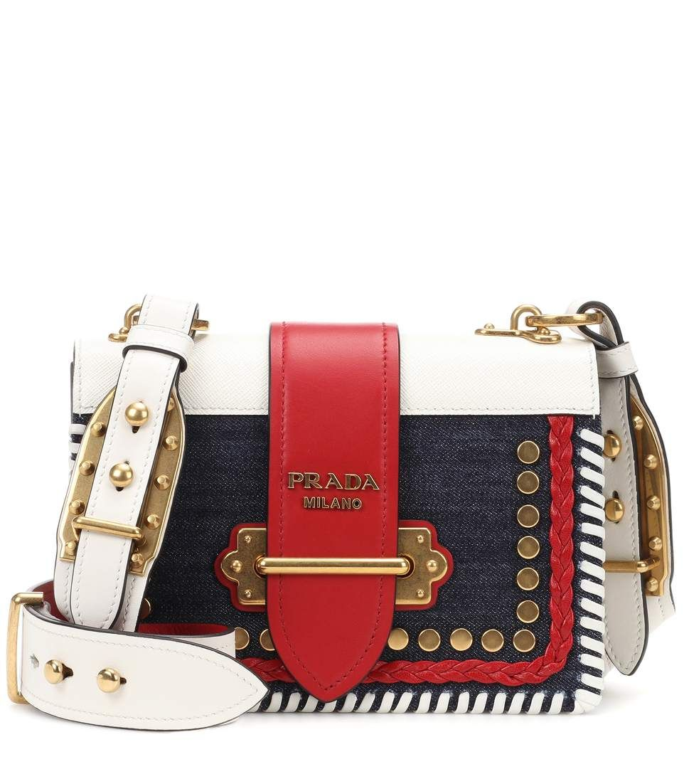 4e50ef04feb ... where to buy prada cahier denim and leather shoulder bag. prada bags  shoulder bags leather