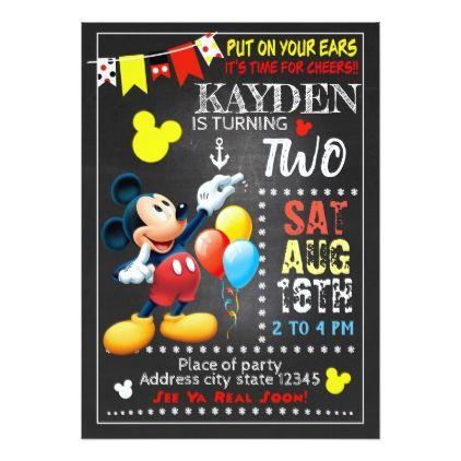 mickey mouse birthday invitation birthdayinvitation birthday