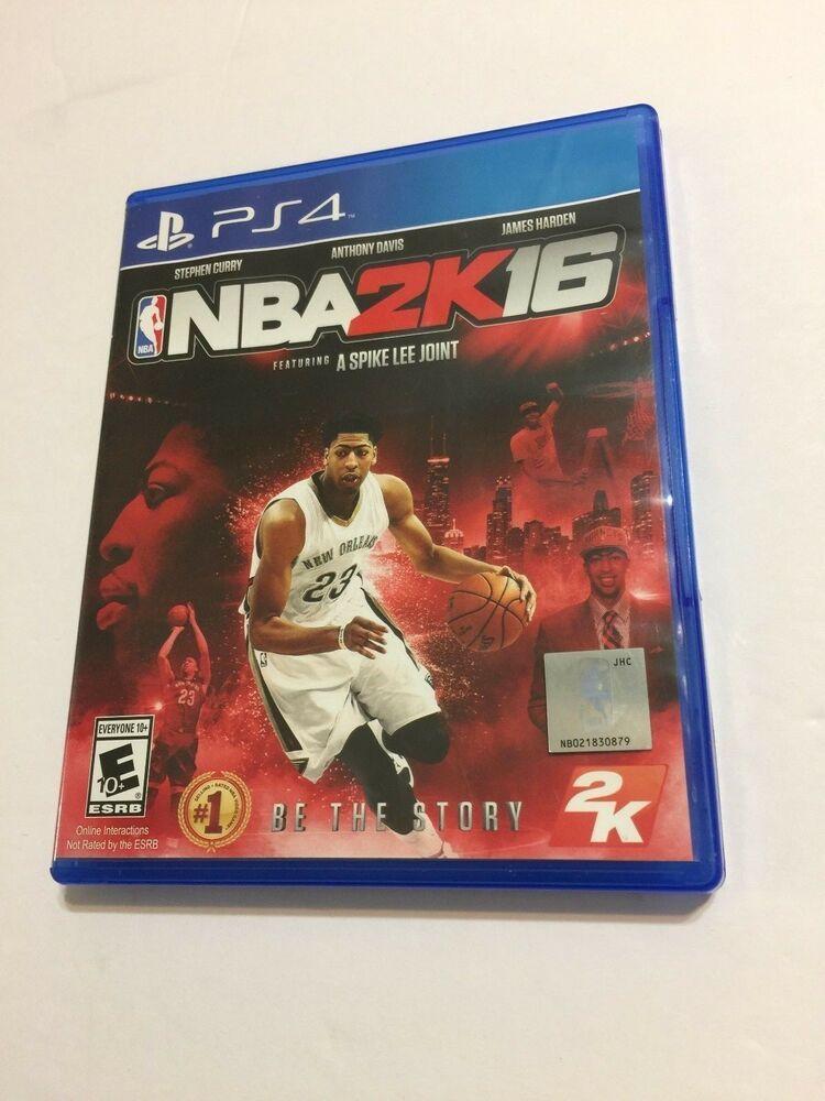 Nba 2k16 Sony Playstation 4 2015 Anthony Davis Cover Ps4