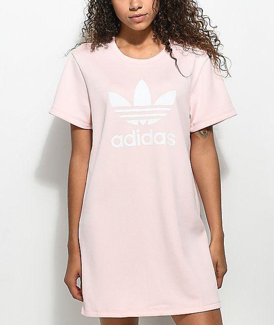 adidas originals trefoil t shirt dress