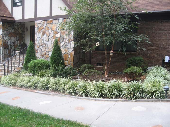 lowmaintenancefrontyardlandscaping landscaping greenville sc south - Front Garden Ideas Low Maintenance