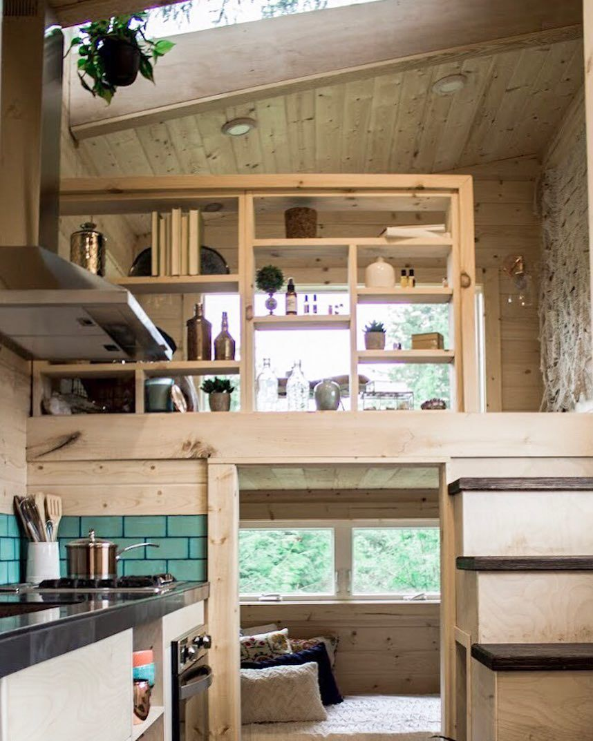 Loft above bedroom   Likes  Comments  Tiny Heirloom tinyheirloom on