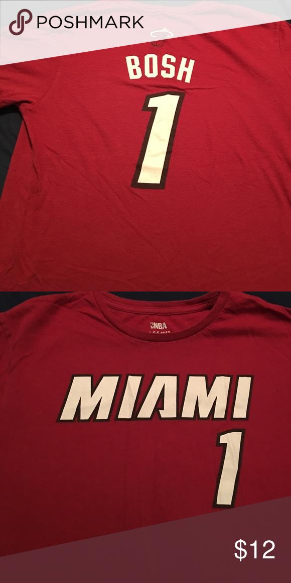 Basketball tee Miami Heat tee shirt Bosh nba Shirts & Tops Tees - Short Sleeve