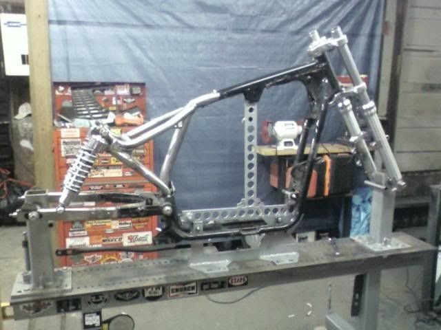 Motorcycle Frame Fixture by corn -- Homemade fixture intended to ...