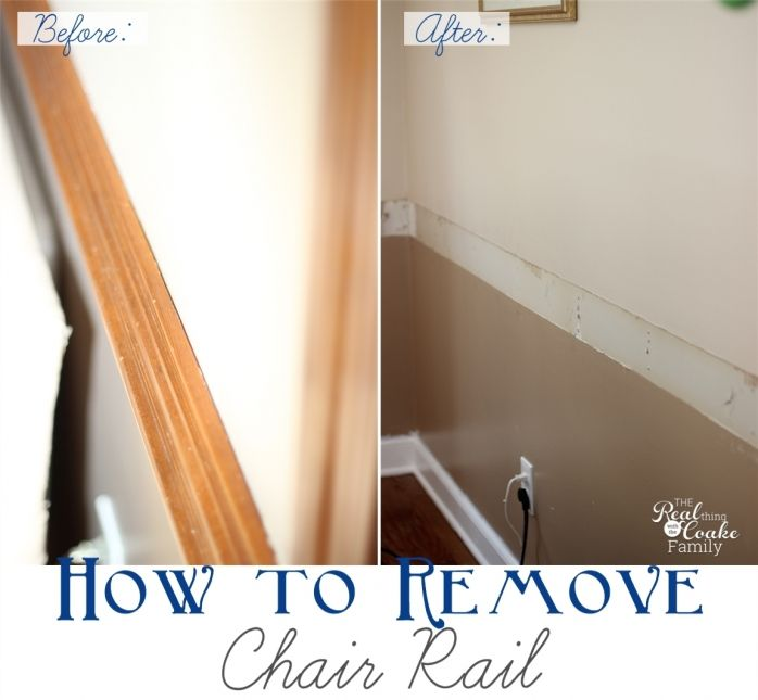Removing A Chair Rail Part - 22: DIY Showing How To Remove Chair Rail With Full Pictures. It Doesnu0027t Look