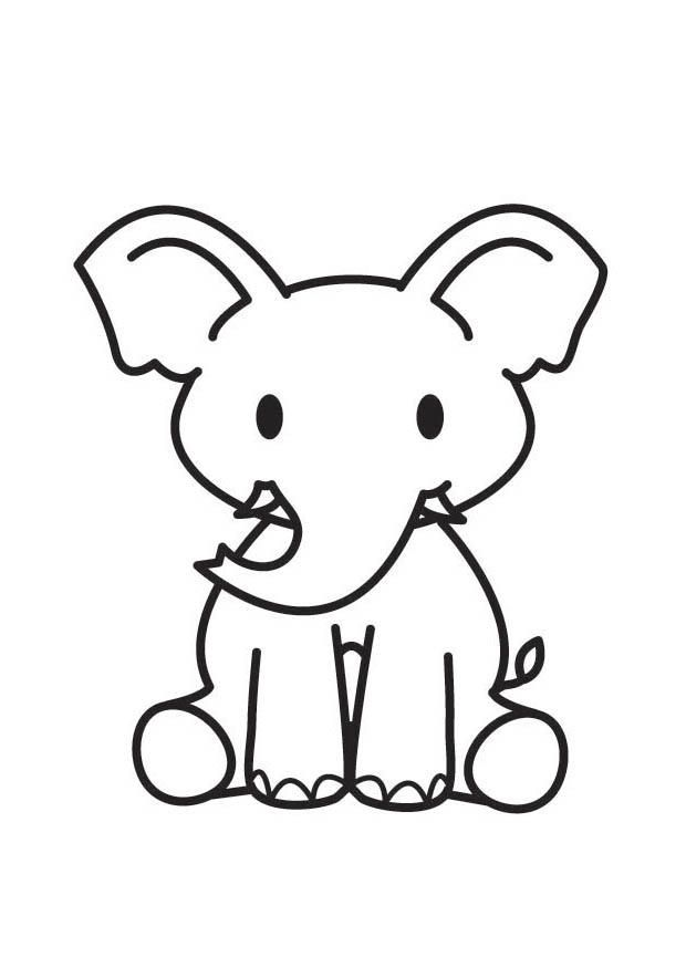 malvorlage elefant   ausmalbild 17811.   elefant