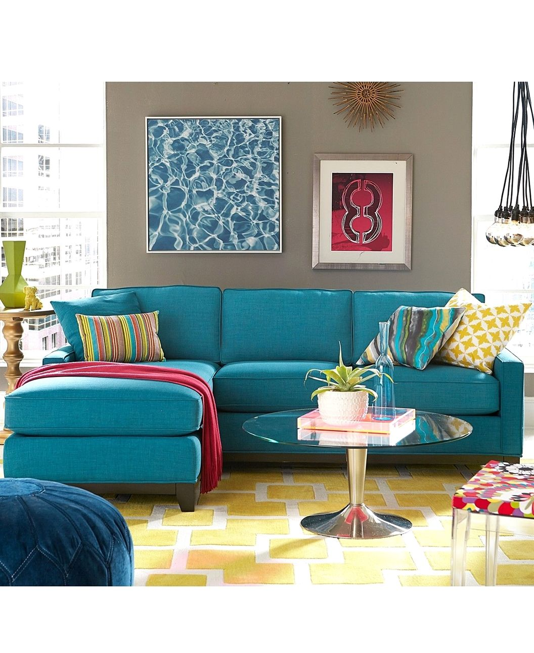 Turquoise Sectional Sectionalsofas Living Room Furniture