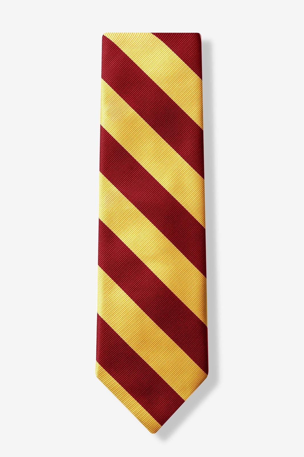 f56ded8af58f Burgundy Microfiber Burgundy & Gold Stripe Tie   Harry Potter   Gold ...