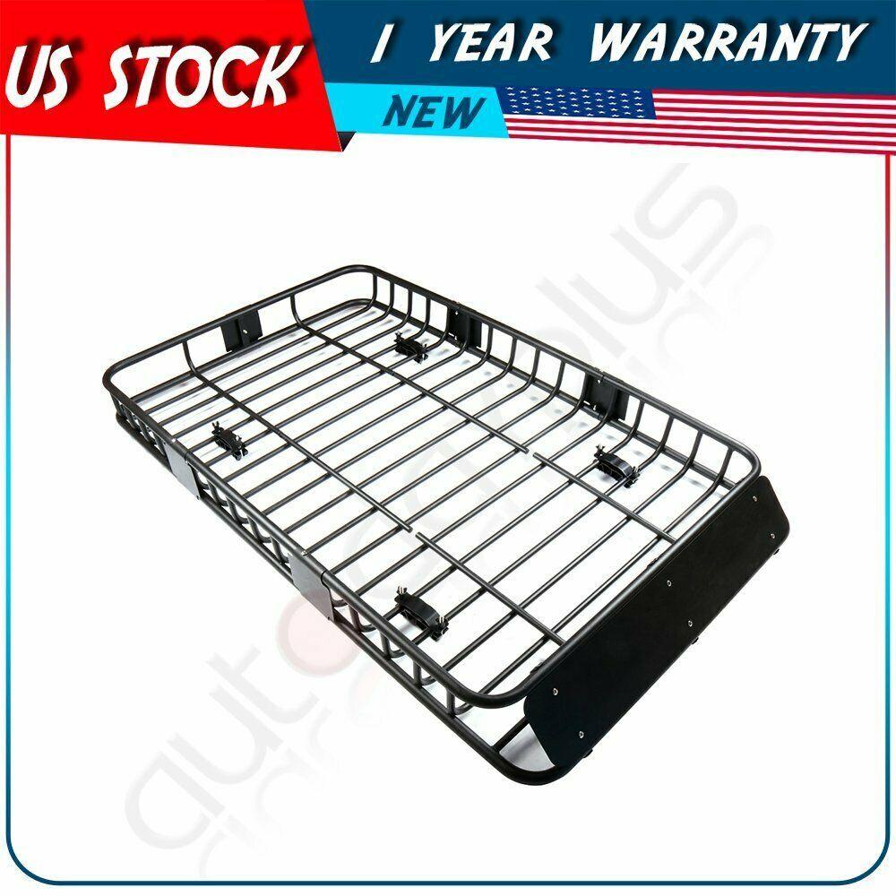 Sponsored Ebay Car Universal 64 Black Roof Rack Extension Cargo Luggage Hold Basket Carrier Roof Rack Roof Rack Basket Luggage Carrier