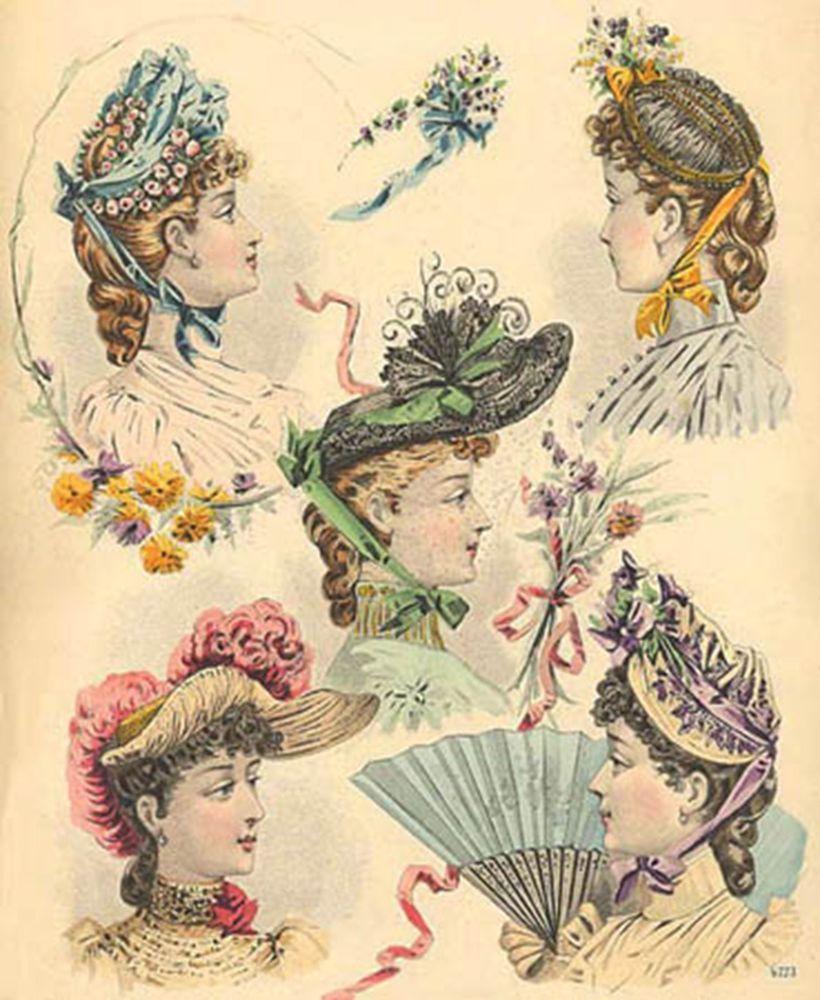 1880 Victorian Hat Designs