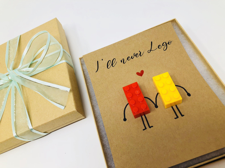 I'll never LEGO, LEGO Theme Card, Thank you card, gift ...