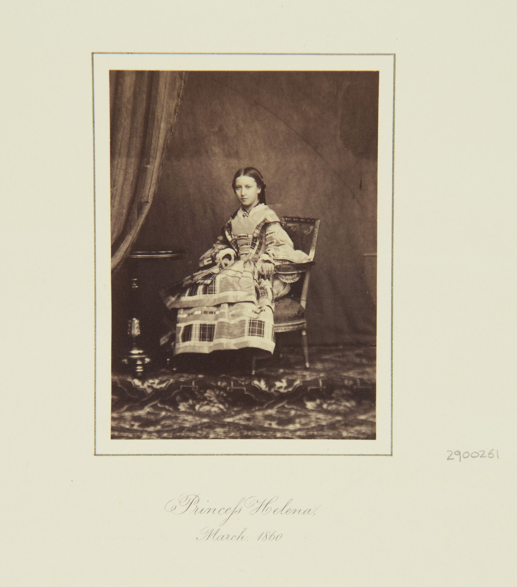 Princess Helena, 1860 [in Portraits of Royal Children Vol.4 1859-1860]   Royal Collection Trust