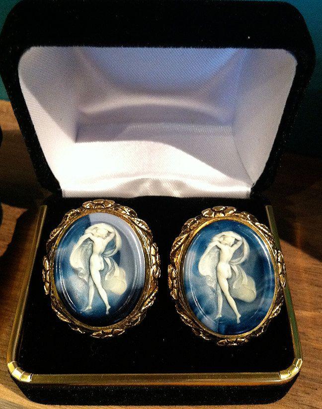 Beautiful Rare Vintage Dante Museum Masterpiece Cufflinks. $165.00, via Etsy.