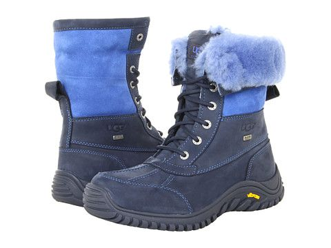 0f354acf8bb UGG Adirondack Boot II Navy Leather/Suede - Zappos.com Free Shipping ...
