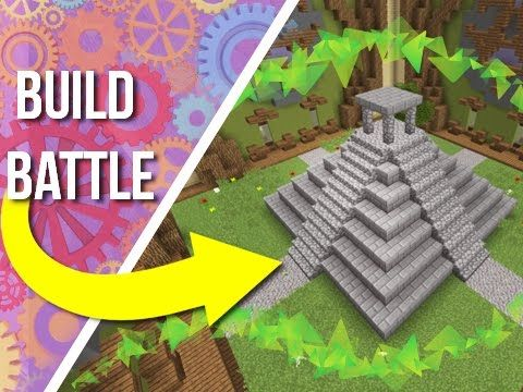 Building A Aztec Temple On Build Battle On YouTube By JERACRAFT - Group guys build epic treehouse gaming