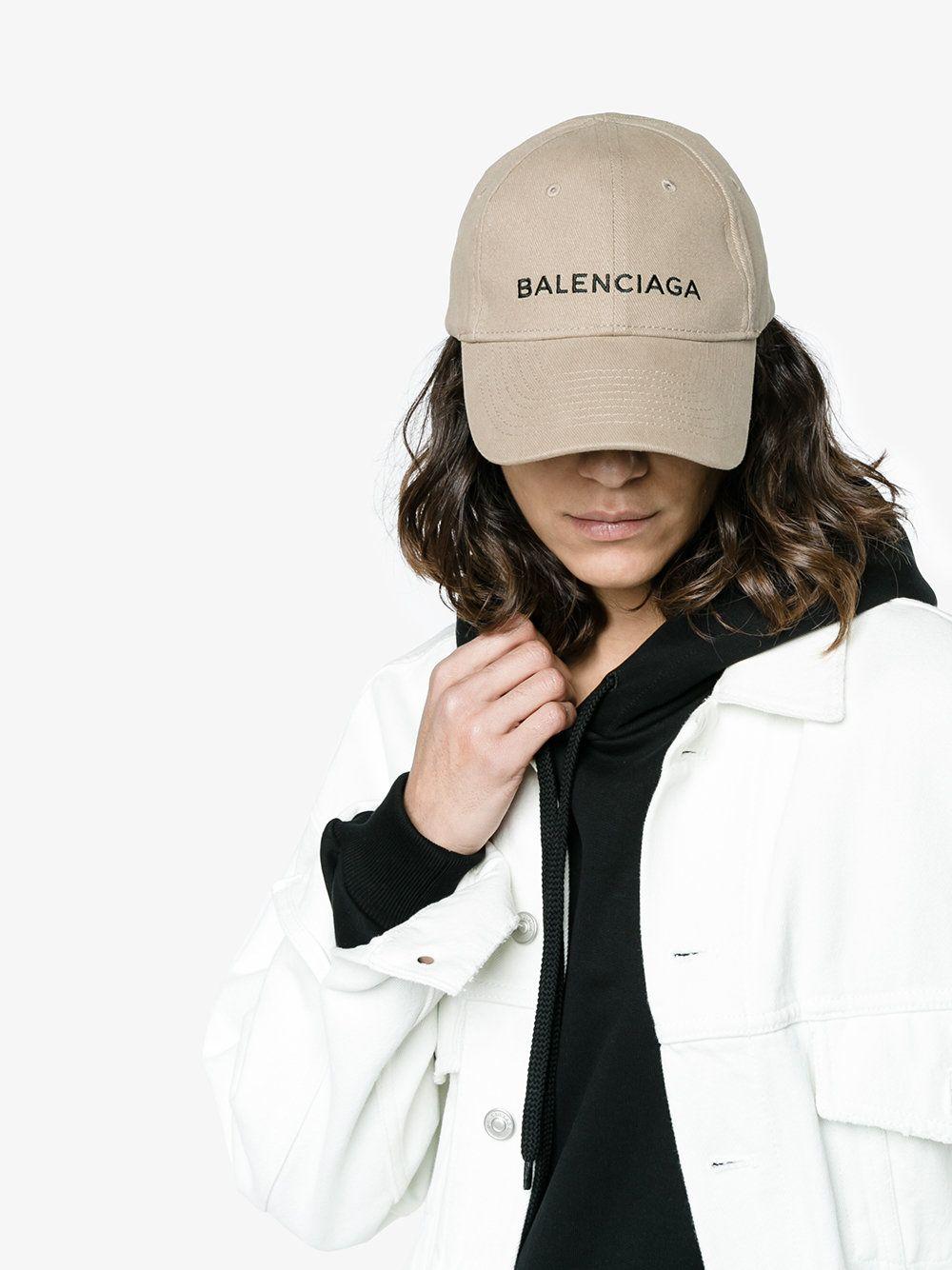 b7da20ebaec Balenciaga Beige Logo Cap
