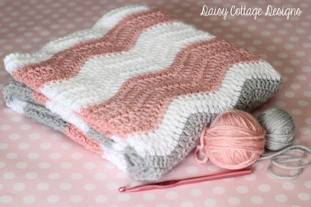 Photo of Ripple Blanket Crochet Pattern – Daisy Cottage Designs
