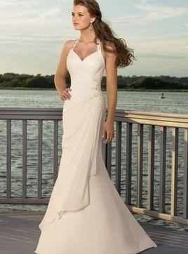 d81fb453c Vestido de noiva Pérola Sereia Chiffon Deslumbrantes